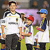 Beckham Boys Cheering on David Beckham Pictures