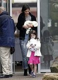 Suri Cruise carried a stuffed bear.