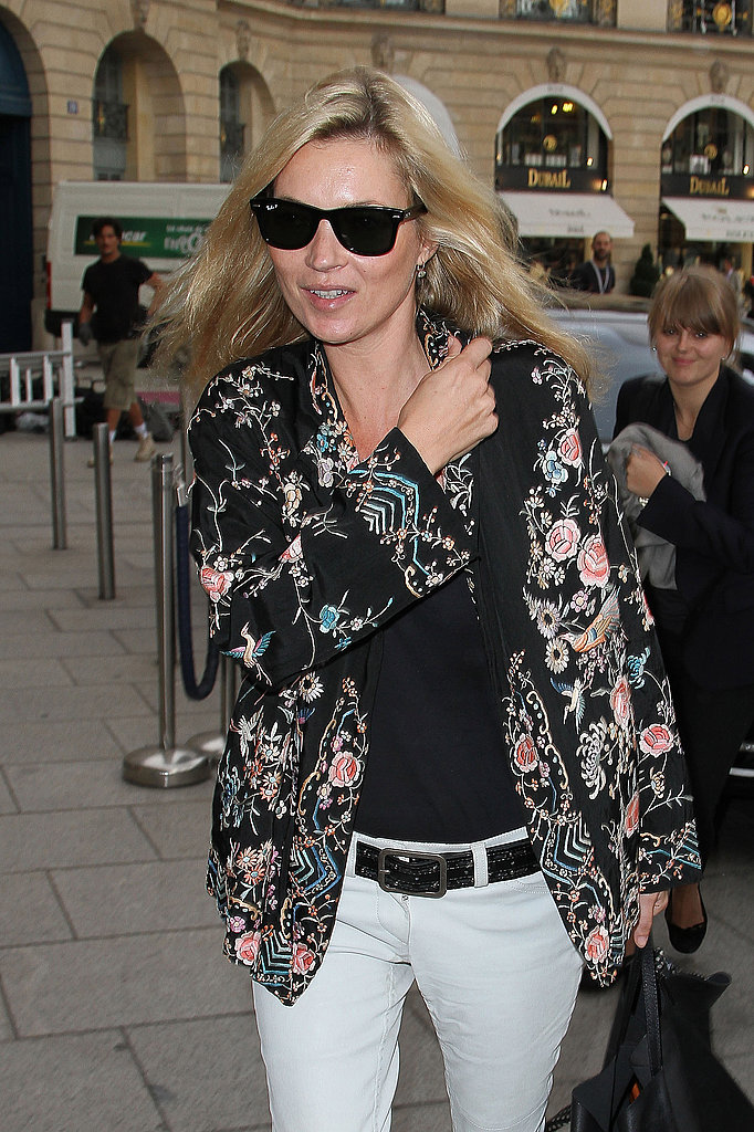 Kate Moss in Ray-Bans.