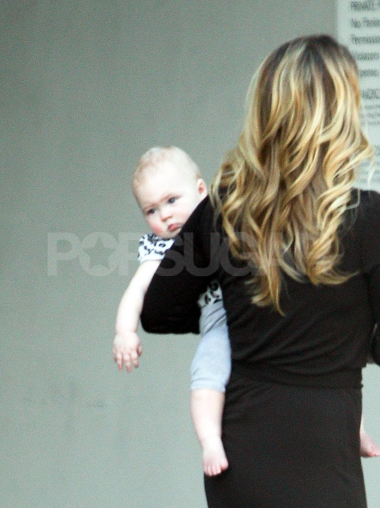 Christina Applegate carried Sadie LeNoble in LA.