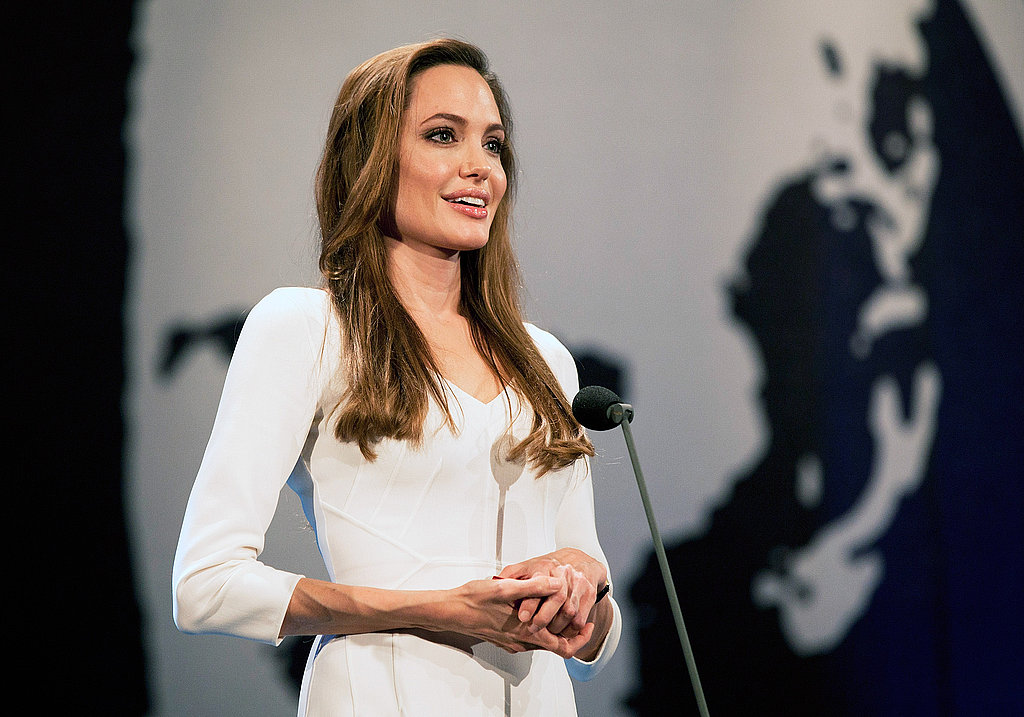 Angelina Jolie in Geneva, Switzerland.