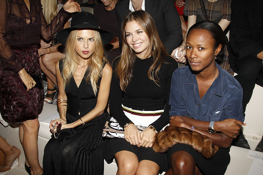 Rachel Zoe front row at Paris Fashion Week.