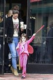 Katie Holmes and Suri Cruise picked up some drinks at Starbucks.