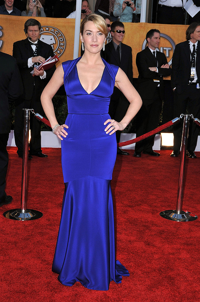 Kate Winslet stood out in bold blue at the 2009 SAG Awards.