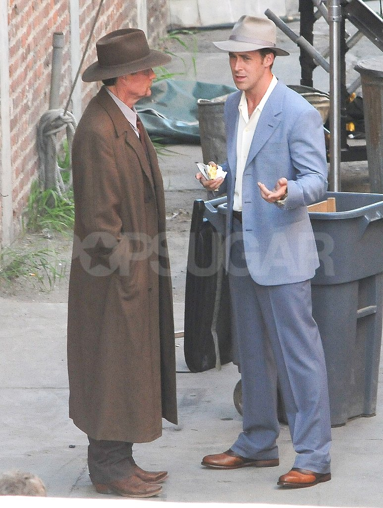Ryan Gosling made conversation while filming The Gangster Squad.