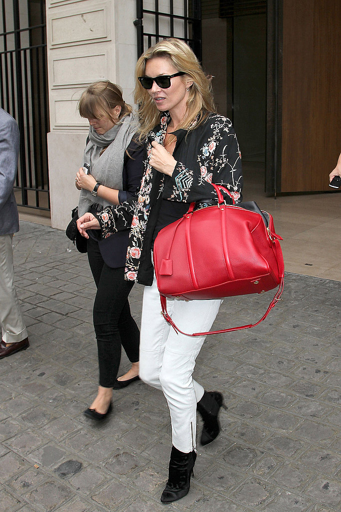 Kate Moss was in Paris for Fashion Week.