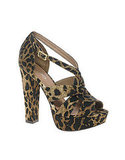 The strappy details are perfect for a hot date night.  Aldo Sorgatz Leopard Platform Sandal ($123)
