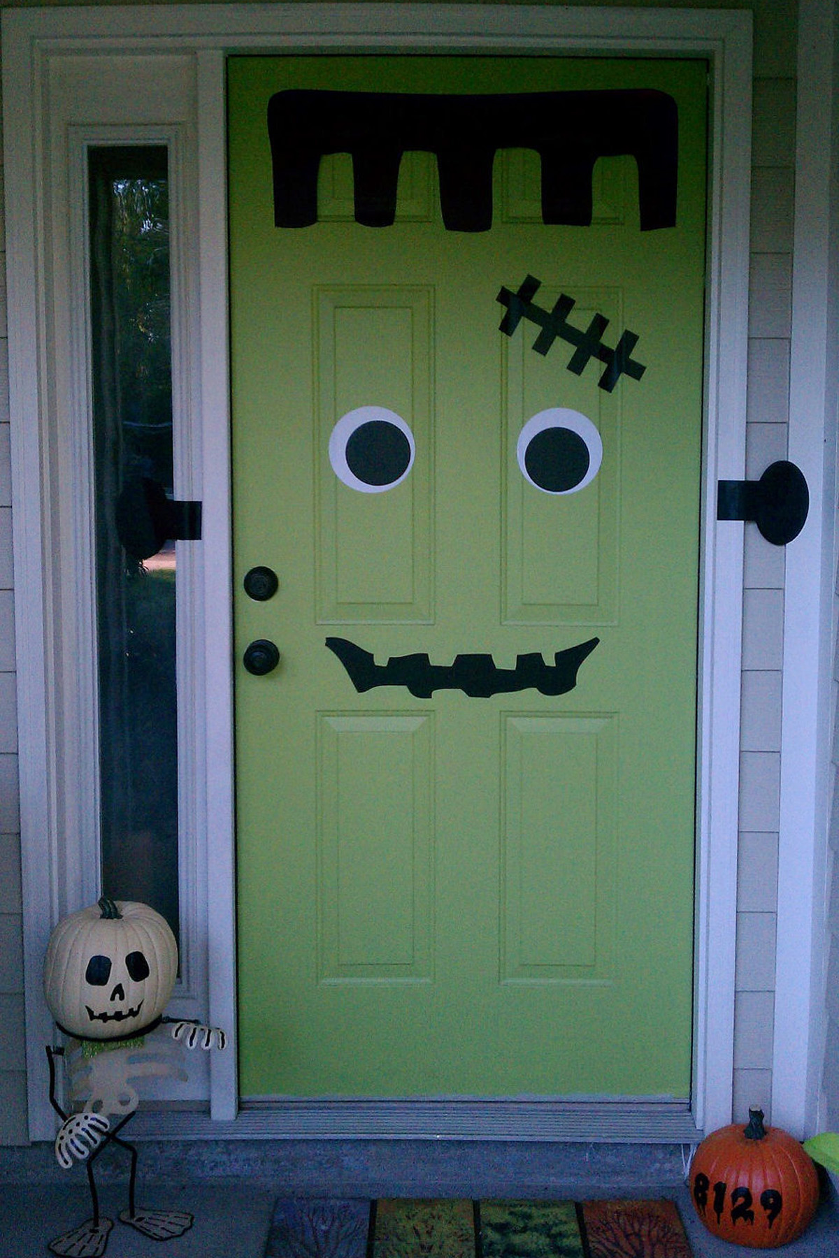 frankendoor halloween decal get spooky 16 diy decor