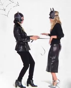 Mary-Kate Olsen and Ashley Olsen got playful during the shoot.