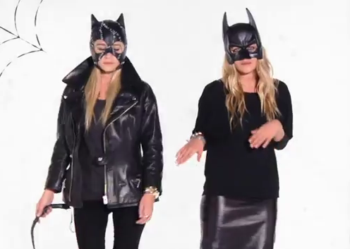 Mary-Kate Olsen and Ashley Olsen sexed up the classic cat costume.