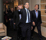 George Clooney and Rick Stengel walked into a press room for a chat in NYC.