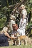 Terri Irwin talked to children in Australia.