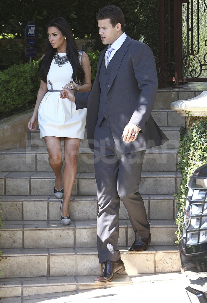 Kim Kardashian and Kris Humphries left their home in LA.