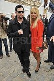 Nicole Richie and hubby Joel Madden stepped out for Louis Vuitton's show.