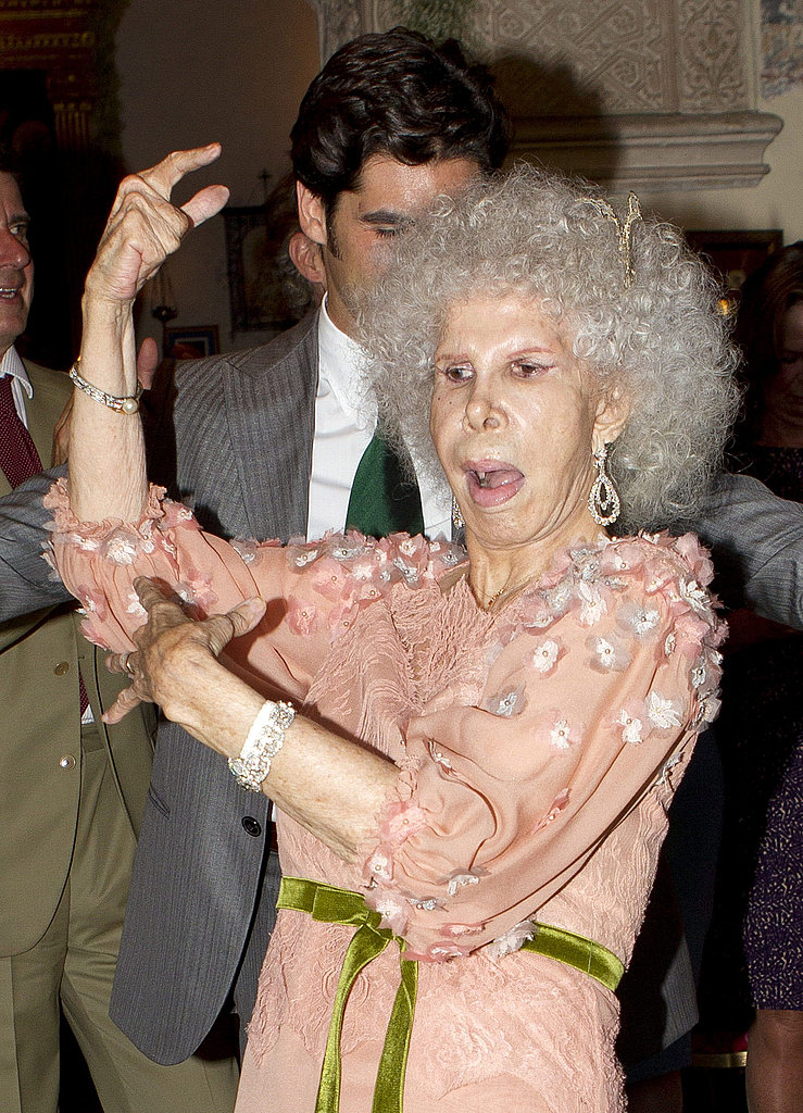 The Duchess of Alba dances with bullfighter Cayetano Rivera Ordonez.