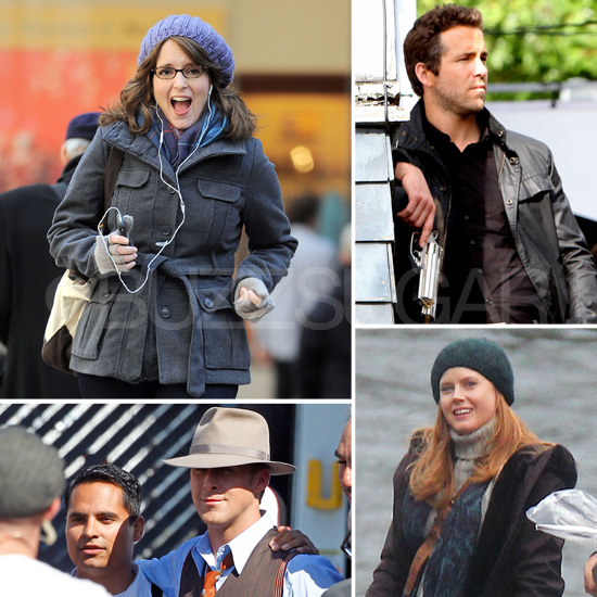 Tina Fey, Ryan Reynolds, Amy Adams, and More Stars on Set This Week!