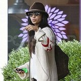 Camila Alves after lunch at LA's R+D Kitchen with Reese Witherspoon.