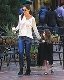 Katie Holmes and Suri Cruise enjoyed a morning together in Pittsburg.