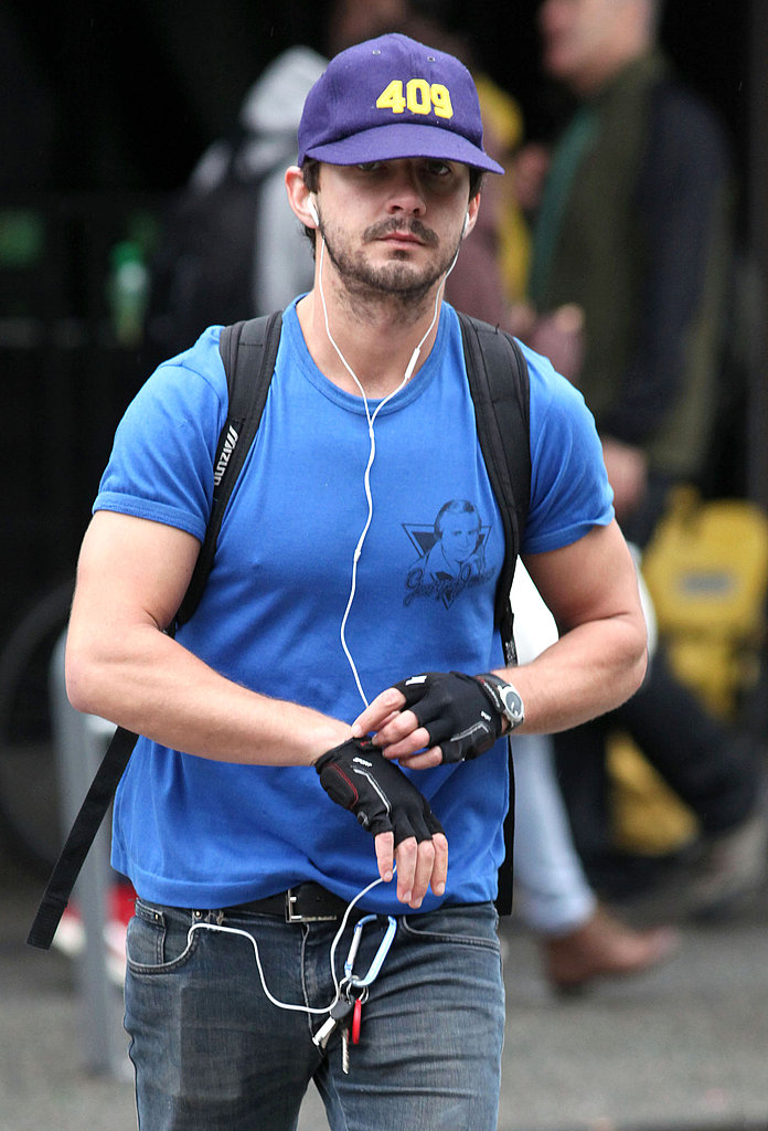 Shia LaBeouf put gloves on.