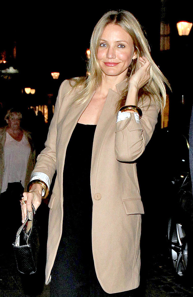 Cameron Diaz out in London.