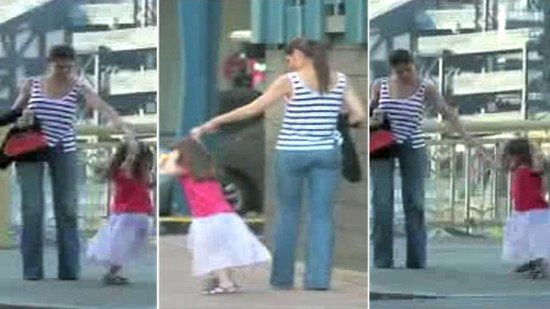 Video: See Suri Cruise Dance and Twirl on Set With Tom and Katie!