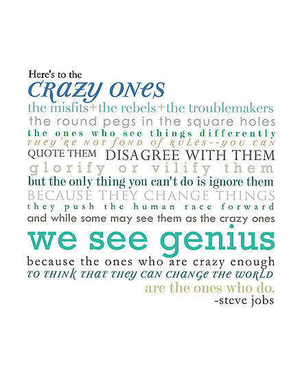 The Crazy Ones Typography ($32)
