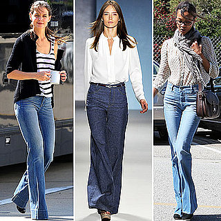 Celebrities in Flared Jeans