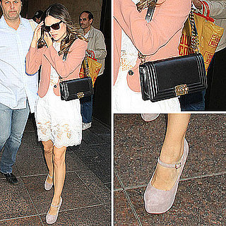 Rachel Bilson Wearing Suno Dress and Vanessa Bruno Blazer