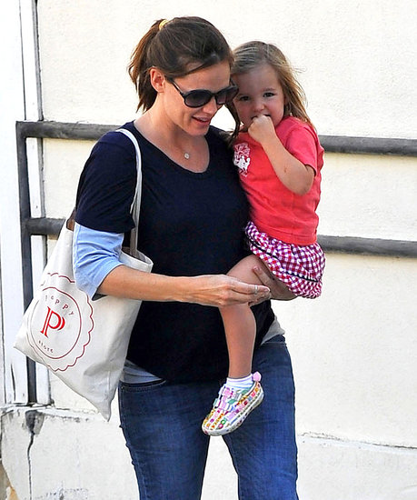 Jennifer Garner and Seraphina Affleck cuddled close while running errands in LA.