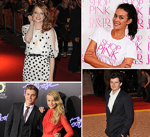 Celebrity Pictures of Emma Stone, Miranda Kerr, Orlando Bloom, George Clooney, Jessica Simpson