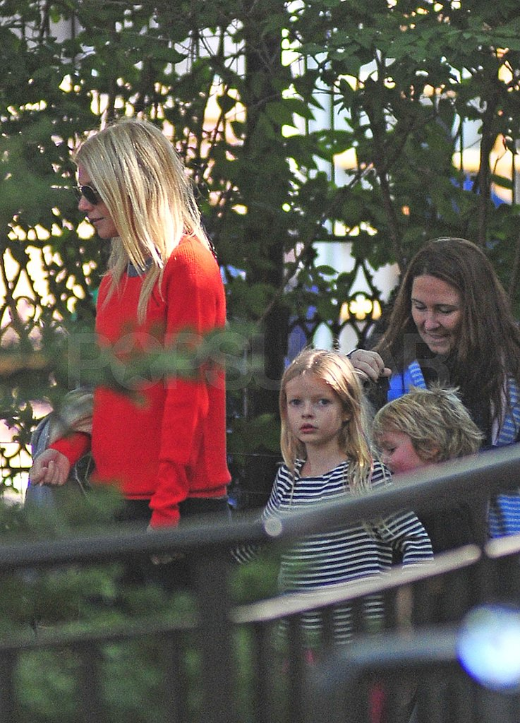 "Gwyneth Takes NYC With Apple and Moses as Chris Says Their Marriage Is Like ""Winning the Lottery"""
