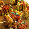 Eggplant Parmesan Appetizer Skewers