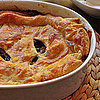 A Fall Feast: Chicken Pie, Smashed Carrots, French Style Peas and Berries & Cream