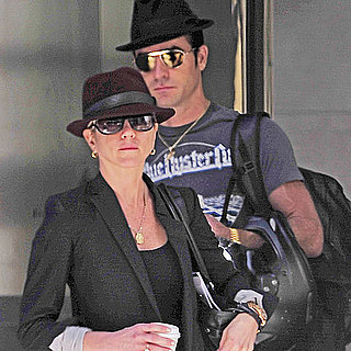 Jennifer Aniston and Justin Theroux Wearing Fedora Pictures