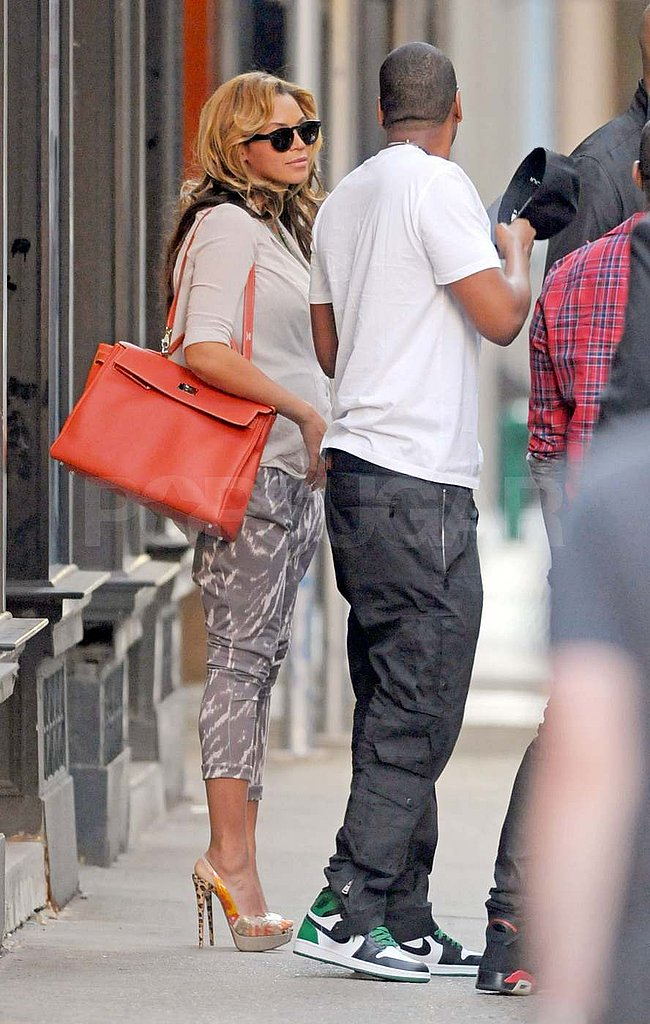 Beyoncé and Jay-Z on the street in NYC.