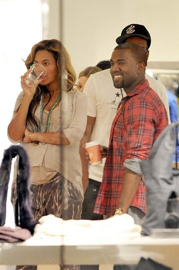 Beyoncé and Jay-Z Show PDA While Shopping With Kanye West