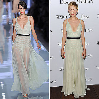 Michelle Williams Wears Dior Spring 2012 Mint Green Gown