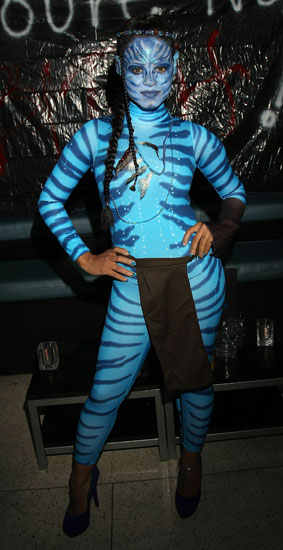 Na'vi Princess Christina Milian went full throttle as Avatar's Neytiri.