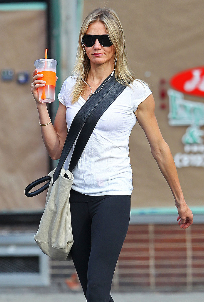 Cameron Diaz kept her sunglasses on for a warm day in NYC.