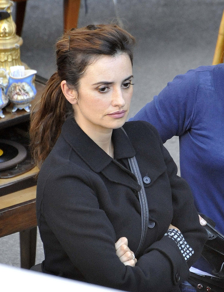 Penelope Cruz left hair and makeup to film Venuto al Mondo.