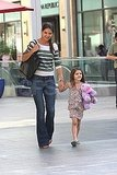 Katie Holmes shops in LA with Suri Cruise.