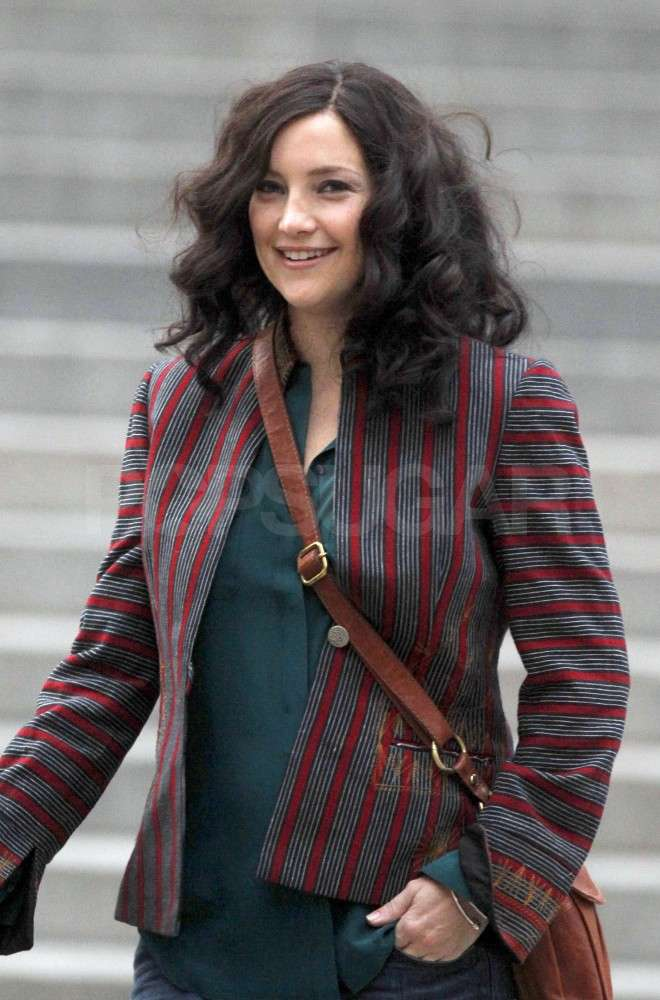 Kate showed off her darker locks.