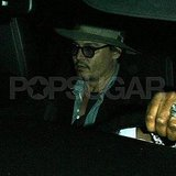 Johnny Depp out in LA.