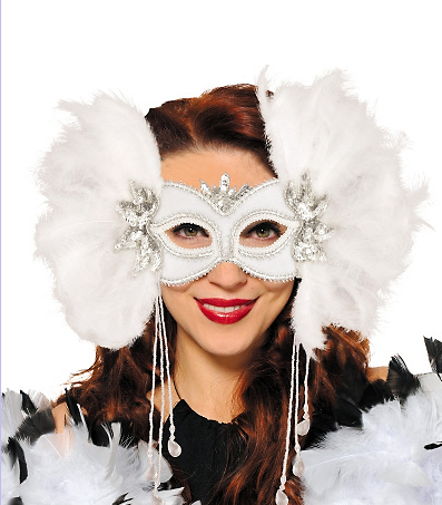 Halloween Masks: White Swan