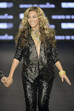 Beyoncé wore head-to-toe sequins while showing off the House of Dereon line.