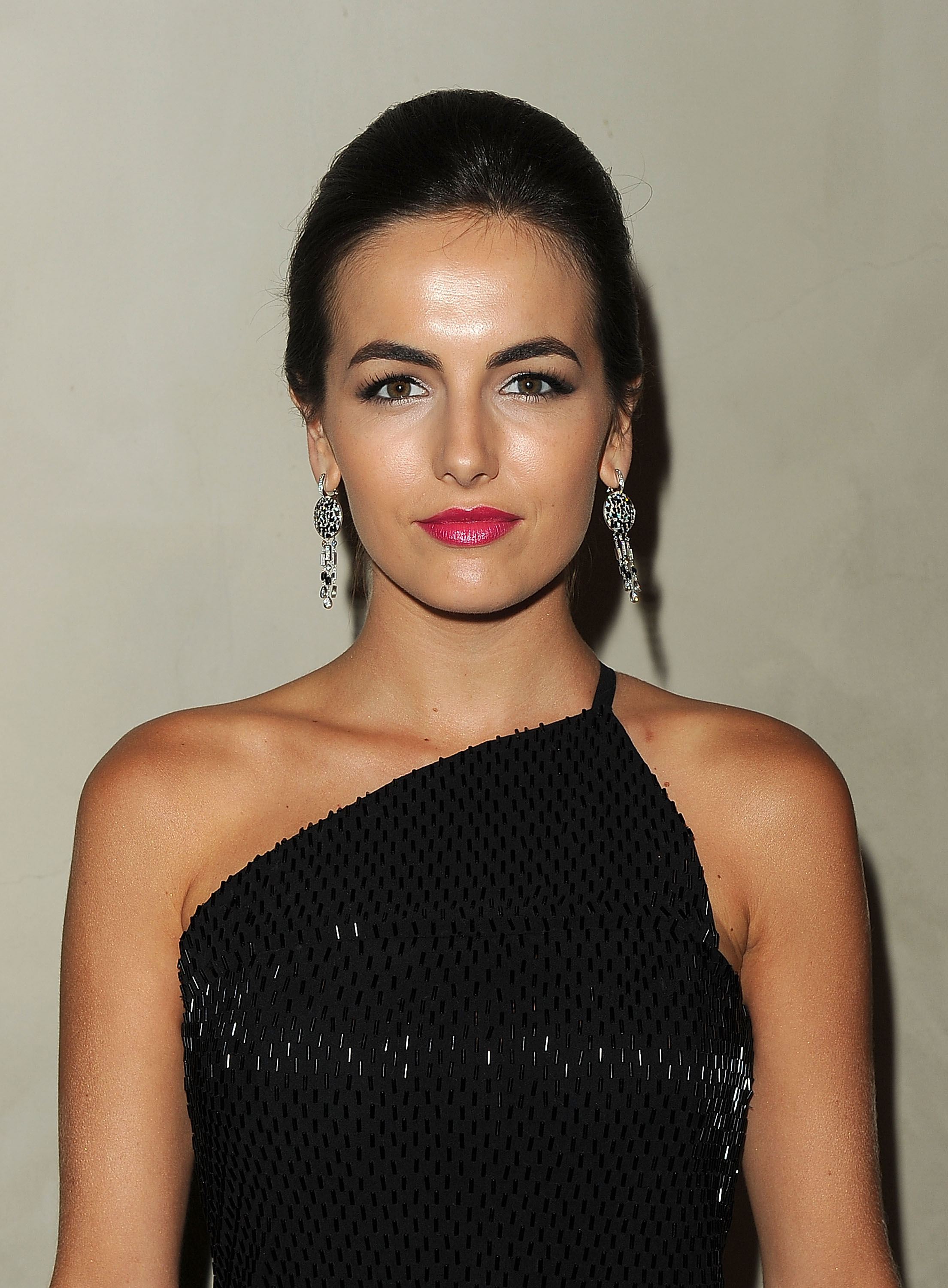 Camilla Belle swept her hair up for an event in LA.