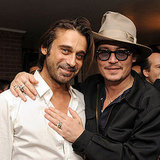 Johnny Depp hugged his friend, artist Jordi Molla in LA.