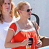 January Jones on Set Pictures After Xander