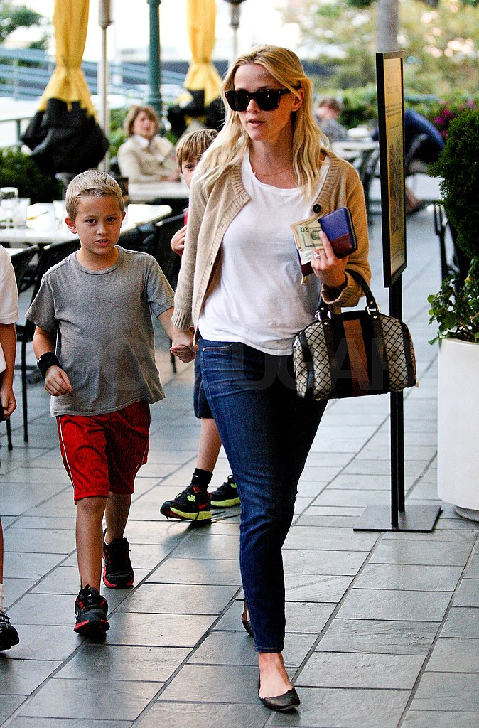 Deacon Phillippe accompanied Reese Witherspoon on afternoon errands.