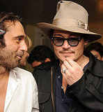 Johnny Depp congratulated his friend, artist Jorid Molla, on his art opening in LA.